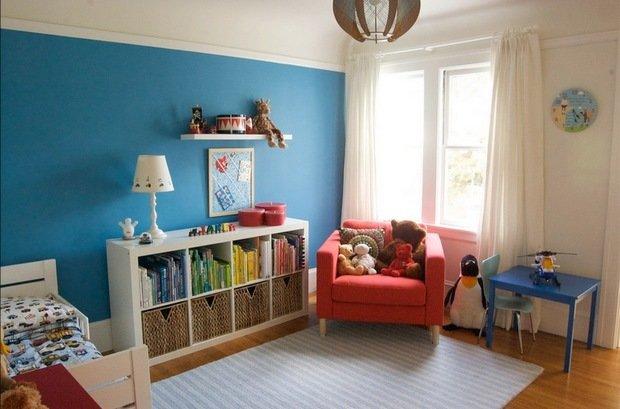 Фотография: Детская в стиле , Декор интерьера, Дизайн интерьера, Цвет в интерьере, Книги – фото на InMyRoom.ru