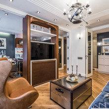 Фотография: Гостиная в стиле Современный, Эклектика, Кухня и столовая, Интерьер комнат – фото на InMyRoom.ru