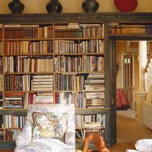 Фотография: Гостиная в стиле Кантри, Декор интерьера, Декор, Домашняя библиотека, как разместить книги в интерьере, книги в интерьере – фото на InMyRoom.ru