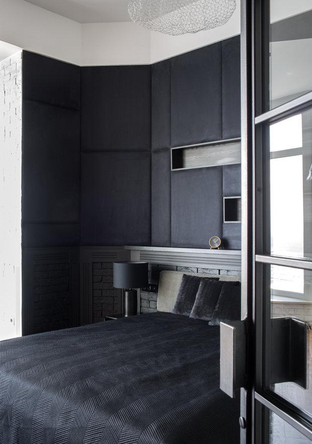 Фотография: Спальня в стиле Лофт, Квартира, Проект недели, Пентхаус, 4 и больше, Более 90 метров, Владивосток, #эксклюзивныепроекты, Miyao Studio – фото на INMYROOM