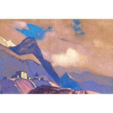 Картина (репродукция, постер): Тибет. У Брахмапутры, 1936 - Николай Рерих