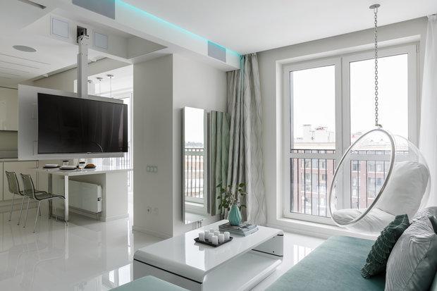 Фотография: Гостиная в стиле Современный, Хай-тек, Квартира, Гид – фото на INMYROOM