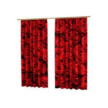 Удивительные шторы с фотопечатью: Букет алых роз