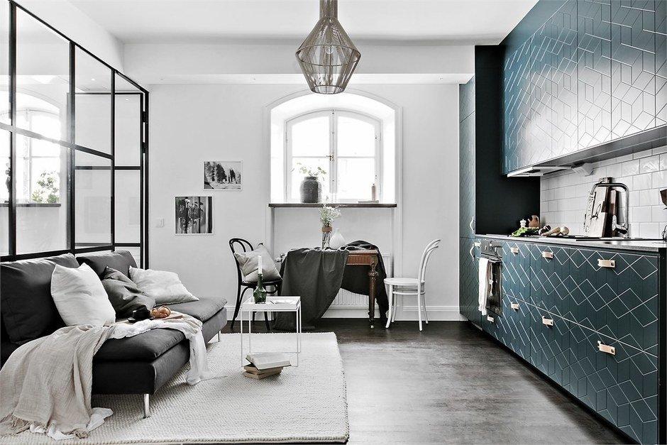 Фотография: Кухня и столовая в стиле Современный, Малогабаритная квартира, Квартира, Гид – фото на InMyRoom.ru