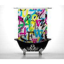 Шторы в ванну: Цветной алфавит