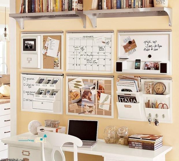 Фотография: Кабинет в стиле Скандинавский, Декор интерьера, как обустроить рабочее место дома, рабочее место в квартире, обустройство рабочего места – фото на InMyRoom.ru