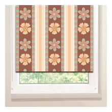 Рулонные шторы: Цветочные полоски