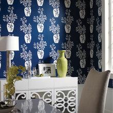 Фотография: Мебель и свет в стиле Классический, Современный, Декор интерьера, Дизайн интерьера, Цвет в интерьере, Обои – фото на InMyRoom.ru