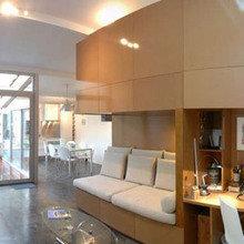 Фотография: Гостиная в стиле Лофт, DIY, Дом, Дома и квартиры, Переделка – фото на InMyRoom.ru