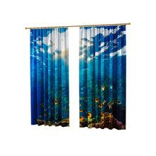 Шторы с фотопечатью: Чудесный подводный мир