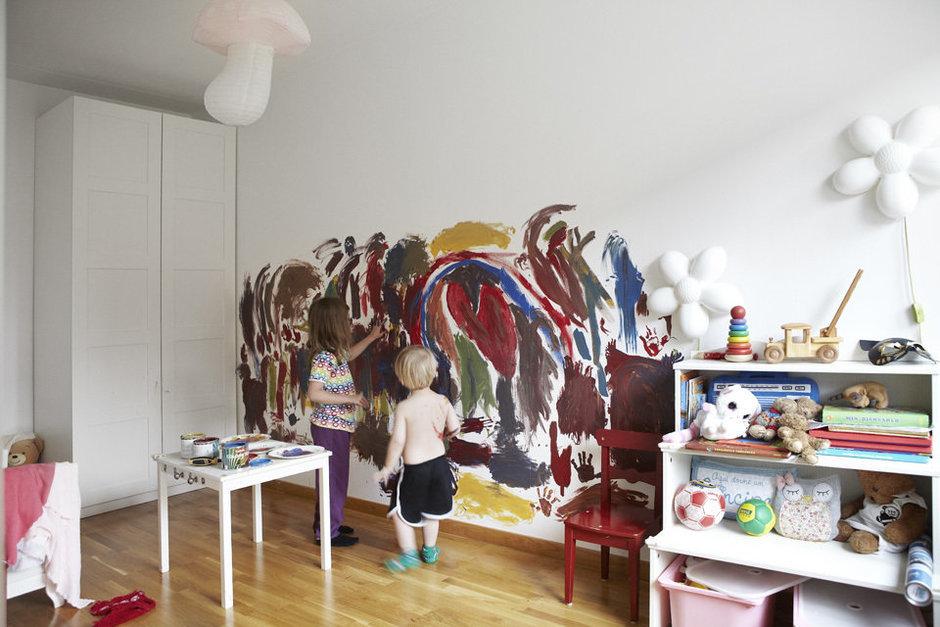 Фотография: Детская в стиле Скандинавский, Современный, Квартира, Швеция, Цвет в интерьере, Дома и квартиры, Белый – фото на InMyRoom.ru