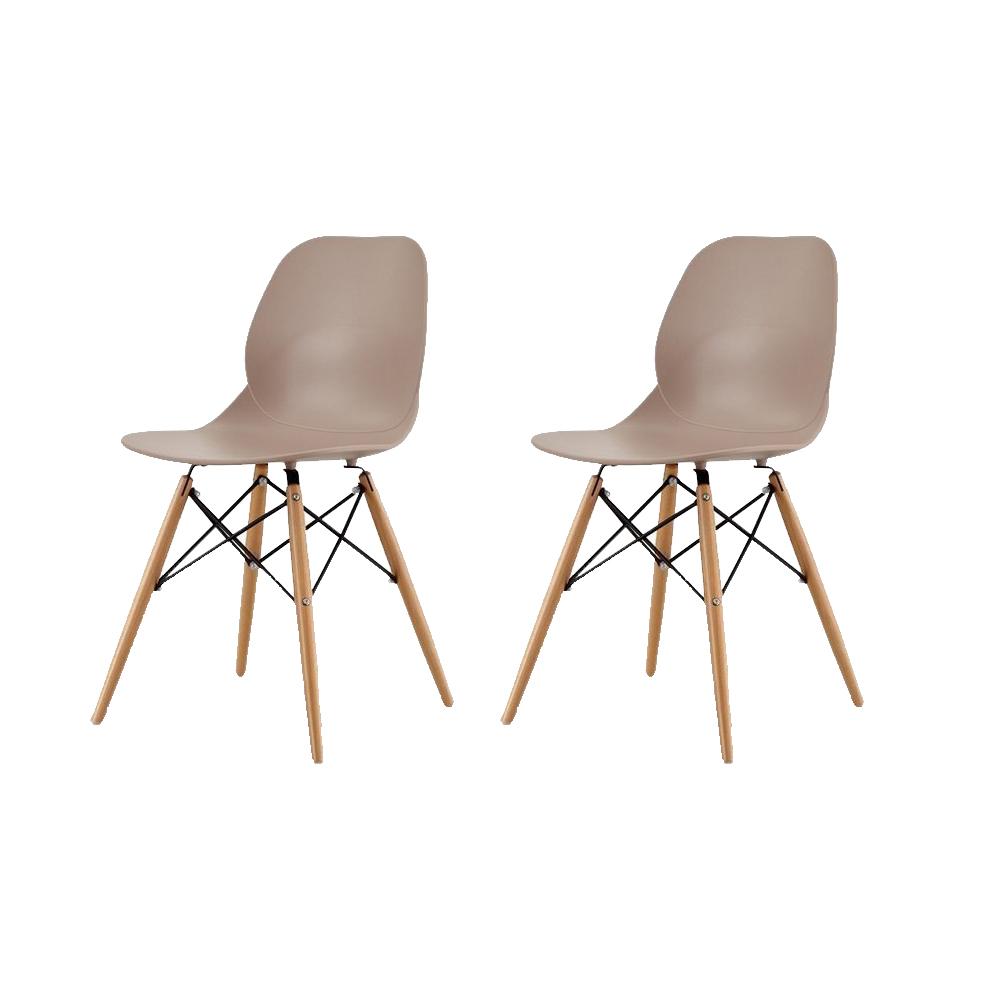 Купить Набор из двух стульев коричневого цвета на деревянных ножках, inmyroom, Китай