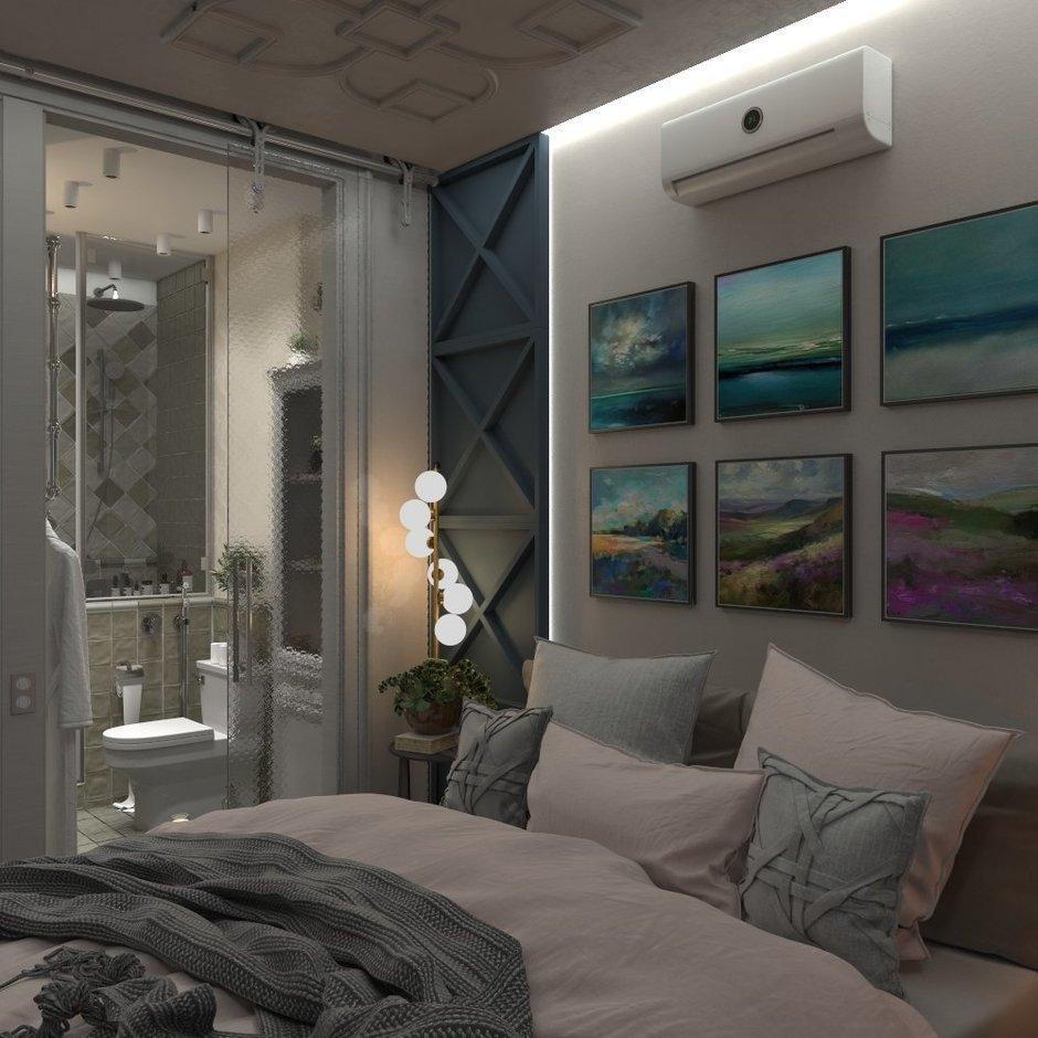 Фотография: Спальня в стиле Современный, Квартира, Проект недели, Подмосковье, 4 и больше, 60-90 метров, Юлия Штыкина – фото на InMyRoom.ru