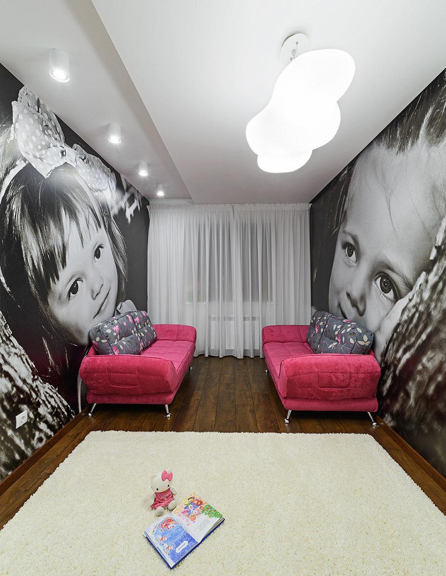Фотография: Детская в стиле Хай-тек, Квартира, Цвет в интерьере, Дома и квартиры, Белый – фото на InMyRoom.ru