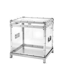 """Прозрачный сундук Eichholtz """"Flightcase Exposed incl stand"""" с каркасом из полированного алюминия"""