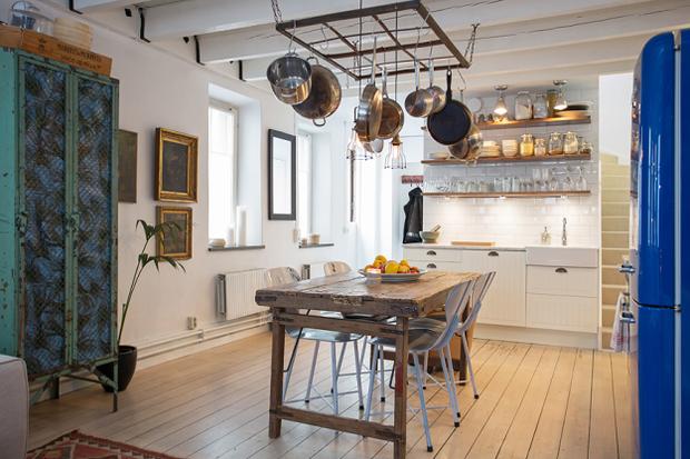 Фотография: Кухня и столовая в стиле Лофт, Скандинавский, Дом, Дома и квартиры – фото на InMyRoom.ru