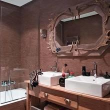 Фотография: Ванная в стиле Кантри, Скандинавский, Квартира, Цвет в интерьере, Дома и квартиры, Стены, Балки – фото на InMyRoom.ru