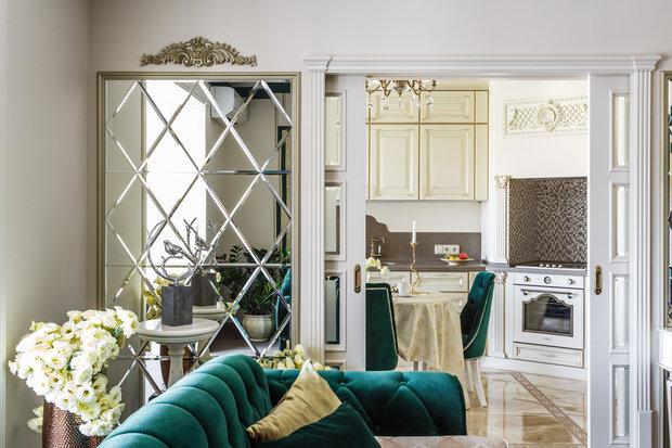 Фото из портфолио Фото гостиной реализованного проекта квартиры – фотографии дизайна интерьеров на INMYROOM