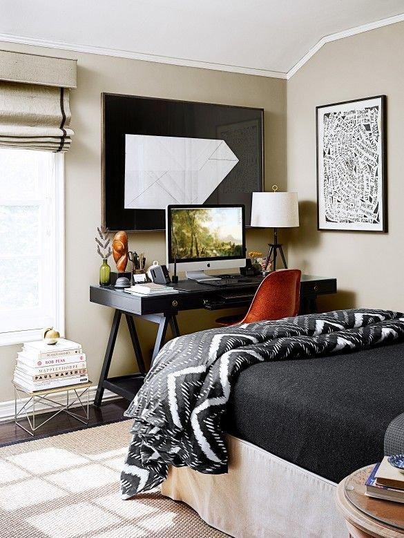 Фотография: Спальня в стиле Скандинавский, Текстиль, Дизайн интерьера, Ремонт, Краска – фото на InMyRoom.ru