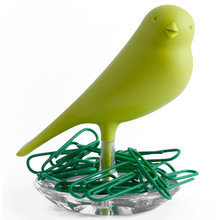 Держатель для скрепок sparrow зеленый