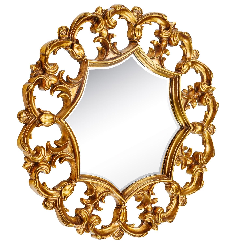 Настенное зеркало в резной раме Florian Gold фото