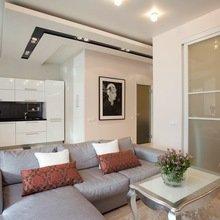 Фотография: Гостиная в стиле Классический, Современный, Малогабаритная квартира, Квартира, Дизайн интерьера – фото на InMyRoom.ru