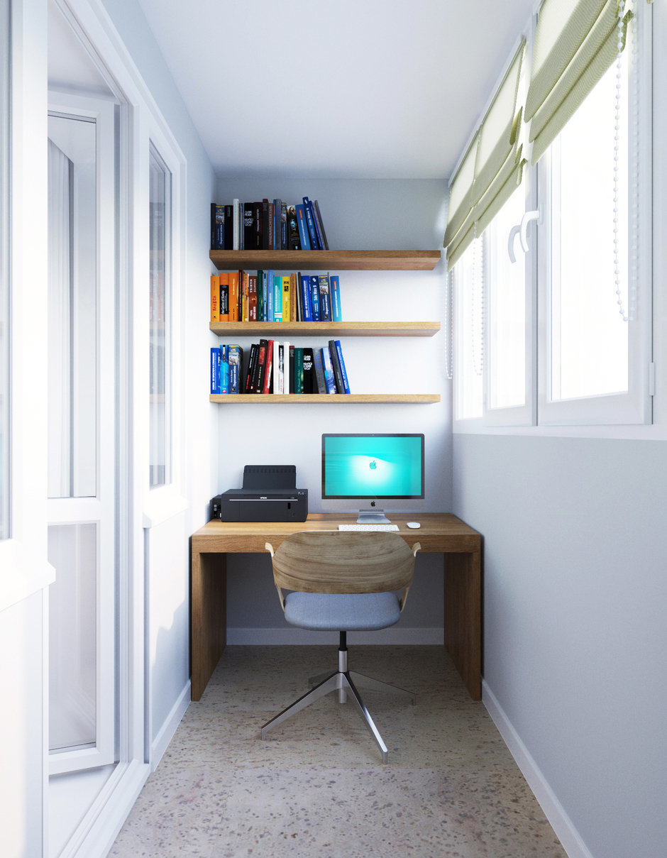 Рабочее место в маленькой квартире - dommer - комплекс домаш.