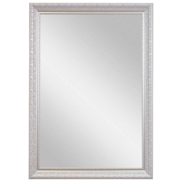 """Зеркало большое в декоративной раме """" Серебряная Луара"""""""