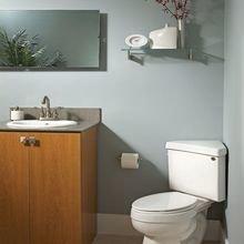 Фотография: Ванная в стиле Минимализм, Перепланировка – фото на InMyRoom.ru