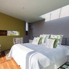 Фотография: Спальня в стиле Минимализм, Квартира, Терраса, Дома и квартиры, Лондон, Пентхаус – фото на InMyRoom.ru