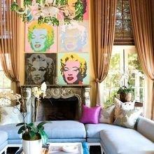 Фотография: Гостиная в стиле Эклектика, Декор интерьера, Декор дома, Картины, Поп-арт – фото на InMyRoom.ru