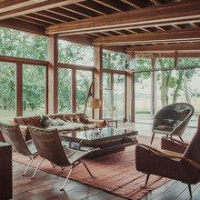 Фото из портфолио Потрясающий деревянный дом в американском стиле – фотографии дизайна интерьеров на INMYROOM