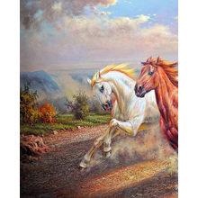 """Декоративная картина на холсте """"Дикие лошади"""""""