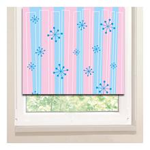 Рулонные шторы: Голубые снежинки