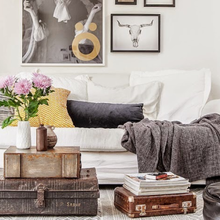 Фотография: Гостиная в стиле Скандинавский, Малогабаритная квартира, Квартира, Дома и квартиры, Ретро – фото на InMyRoom.ru