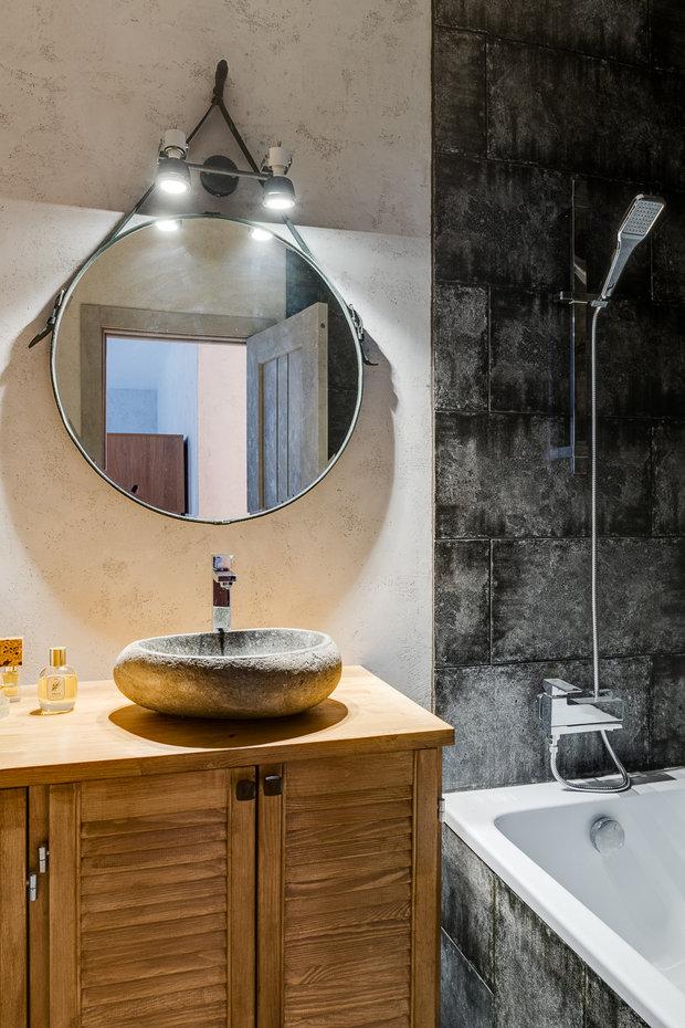 Фотография: Ванная в стиле Лофт, Малогабаритная квартира, Квартира, Студия, Проект недели, Красногорск, до 40 метров, Элина Богомолова – фото на INMYROOM