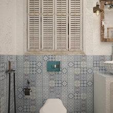 Фотография: Ванная в стиле Восточный, Квартира, Дома и квартиры, Проект недели, Средиземноморский – фото на InMyRoom.ru