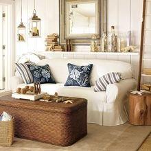 Фотография: Гостиная в стиле Кантри, Декор интерьера, Мебель и свет, Искусственный ротанг – фото на InMyRoom.ru
