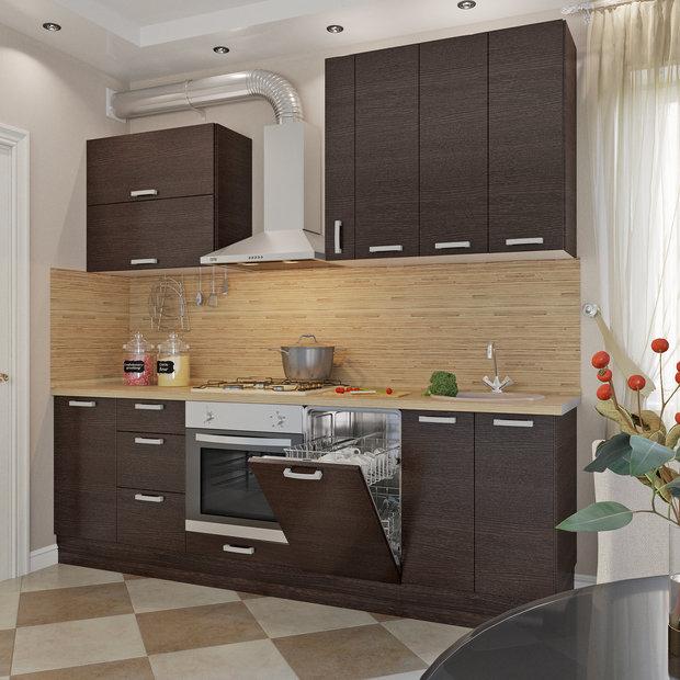 Прямая кухня «Шоколад», Leroy Merlin