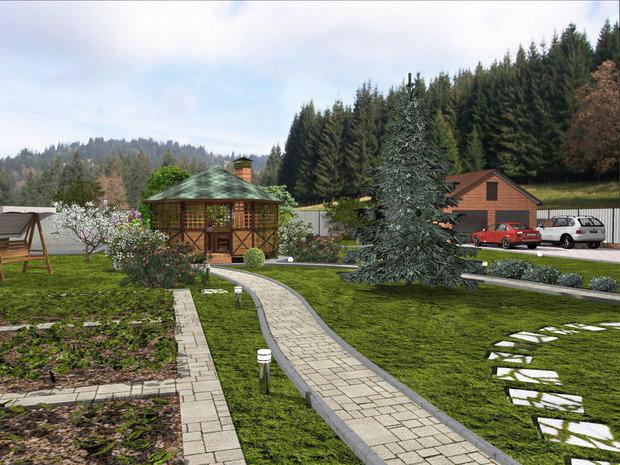 Фото из портфолио Ландшафтный проект в поселке Жареный Бугор – фотографии дизайна интерьеров на INMYROOM