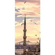 "Интерьерная модульная картина на стену ""Птицы над мечетью"""