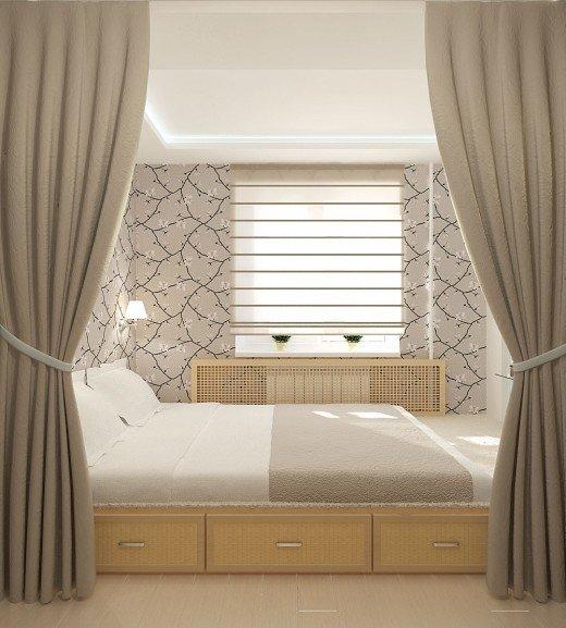 Фотография: Спальня в стиле Минимализм, Квартира, Мебель и свет, Советы, Ремонт на практике – фото на InMyRoom.ru