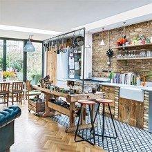 Фотография: Кухня и столовая в стиле Лофт, Квартира, Дома и квартиры, Лондон – фото на InMyRoom.ru