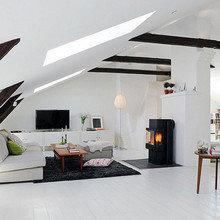 Фотография: Гостиная в стиле Скандинавский, Лофт, Дизайн интерьера, Чердак, Мансарда – фото на InMyRoom.ru