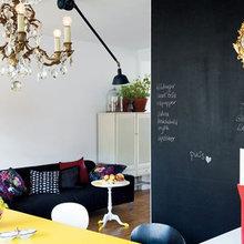 Фотография: Гостиная в стиле Эклектика, Скандинавский, Квартира, Швеция, Цвет в интерьере, Дома и квартиры, Белый – фото на InMyRoom.ru