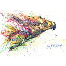 Картина (репродукция, постер): Орел-Свобода - Хуа Тунан