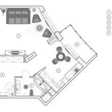 Фотография: Планировки в стиле , Лофт, Малогабаритная квартира, Квартира, Дома и квартиры, Проект недели – фото на InMyRoom.ru