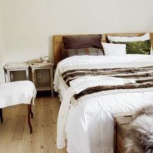 Фотография: Спальня в стиле Скандинавский, Дом, Дома и квартиры, Большие окна, Дом на природе – фото на InMyRoom.ru
