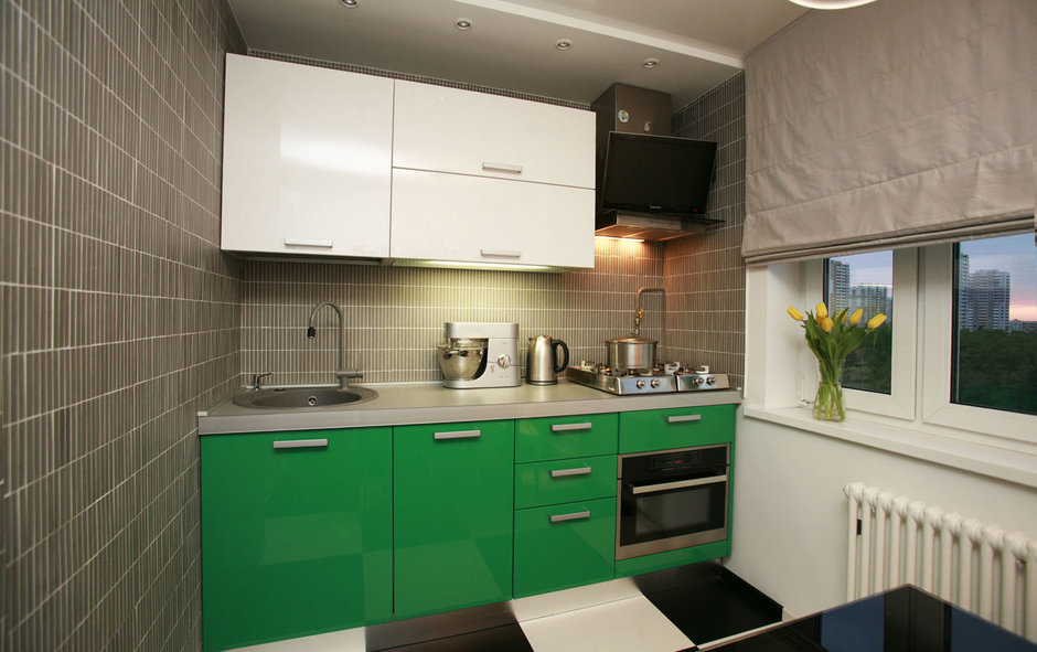 Фотография: Кухня и столовая в стиле Хай-тек, Квартира, Дома и квартиры, Перепланировка, Ремонт – фото на InMyRoom.ru