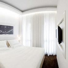 Фотография: Спальня в стиле Минимализм, Декор интерьера, DIY, Цвет в интерьере, Стиль жизни, Советы, Белый, Зеркала – фото на InMyRoom.ru
